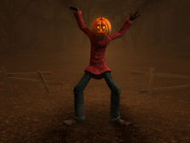 Pumpkin Man Stock Image