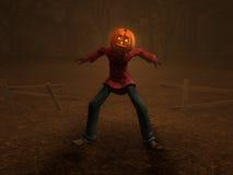 Pumpkin Man. 3d illustration of pumpkin man Halloween character Royalty Free Stock Image