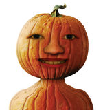 Pumpkin Man. Photo-illustration of a pumpkin man Royalty Free Stock Photography