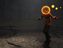 Pumpkin man halloween character Royalty Free Stock Photo