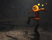 Pumpkin man halloween character Royalty Free Stock Photos