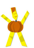 Pumpkin man for Halloween Royalty Free Stock Photography