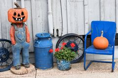 Pumpkin Man Stock Images