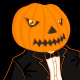 Pumpkin man portrait Royalty Free Stock Photos