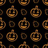Pumpkin and Maple Pattern vector illustration
