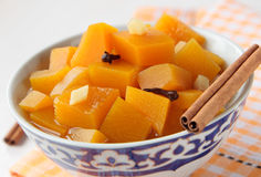 Pumpkin marinated with cinnamon Royalty Free Stock Photos