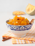 Pumpkin marinated with ginger and cinnamon Stock Images
