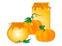 Pumpkin marmalade Royalty Free Stock Photography