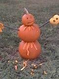 Pumpkin massacre. Pumpkin day killer Stock Image