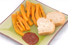 Pumpkin meal with dip Royalty Free Stock Image