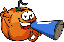 Pumpkin with megaphone Stock Photography