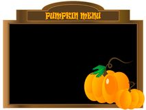 Pumpkin menu Stock Photography