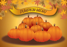 Pumpkin menu, autumn halloween and thanksgiving me Stock Photos
