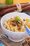 Pumpkin millet porridge Stock Image