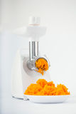 Pumpkin minced with an grinder Royalty Free Stock Image