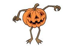 Pumpkin Monster. An illustration of big pumpkin transform to a monster Stock Photos
