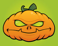 Pumpkin Monster. Spooky vector Halloween pumpkin head monster drawn in a humorous cartoon style vector illustration