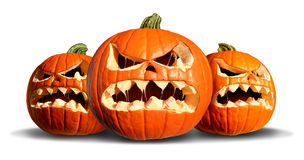 Pumpkin Monster Group Royalty Free Stock Images