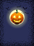 Pumpkin moon Stock Images