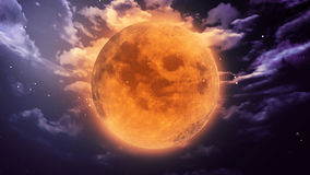 Pumpkin moon Halloween Royalty Free Stock Images