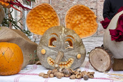 Pumpkin mouse Stock Image