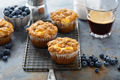 Pumpkin muffins with cheesecake filling Stock Images