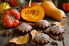 Pumpkin muffins Royalty Free Stock Image