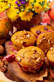 Pumpkin muffins Stock Photos