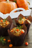 Pumpkin muffins with rosemary Royalty Free Stock Photography