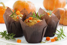 Pumpkin muffins with rosemary Royalty Free Stock Photos