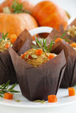 Pumpkin muffins with rosemary Royalty Free Stock Photo