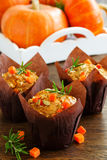 Pumpkin muffins with rosemary Stock Image
