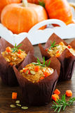 Pumpkin muffins with rosemary Royalty Free Stock Image