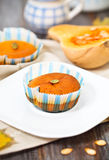 Pumpkin muffins with seeds and pumpkin Royalty Free Stock Photos