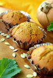 Pumpkin muffins Stock Photography