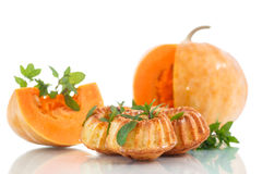 Pumpkin muffins Stock Images
