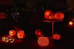 Pumpkin night party Stock Photos