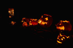 Pumpkin night party royalty free stock images