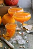 Pumpkin drinks, juice for Halloween. royalty free stock photos