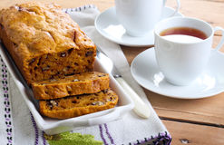 Pumpkin and nut bread Royalty Free Stock Photos