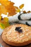 Pumpkin-nut pie Royalty Free Stock Photo