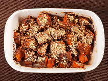 Pumpkin with nuts casserole Stock Photo