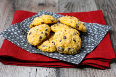 Pumpkin oat cookies Royalty Free Stock Photography