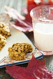 Pumpkin oat cookies Stock Photography