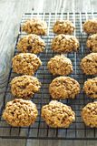 Pumpkin oat cookies Stock Photo