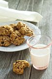 Pumpkin oat cookies Royalty Free Stock Image