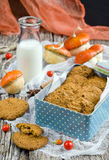 Pumpkin-oatmeal cookies with nuts Stock Image