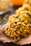 Pumpkin and Oatmeal Drop Cookies Stock Images