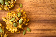 Pumpkin and Oatmeal Drop Cookies Royalty Free Stock Photo