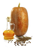 Pumpkin and oil Royalty Free Stock Images